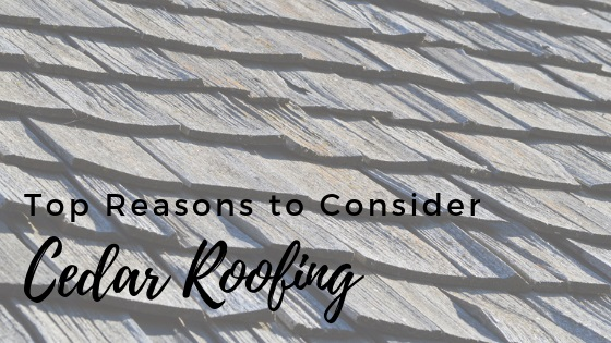 5 Reasons to Consider a Cedar Roof